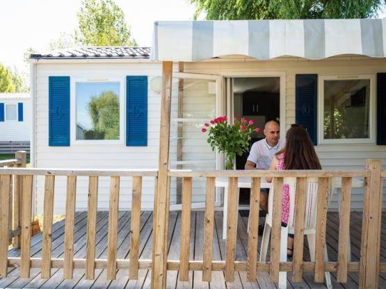 Mobilhome 18 6m 1 Habitación Terraza Tv Camping