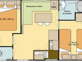 Mobil home Grand Confort 4/6 Pl. - 2 chambres